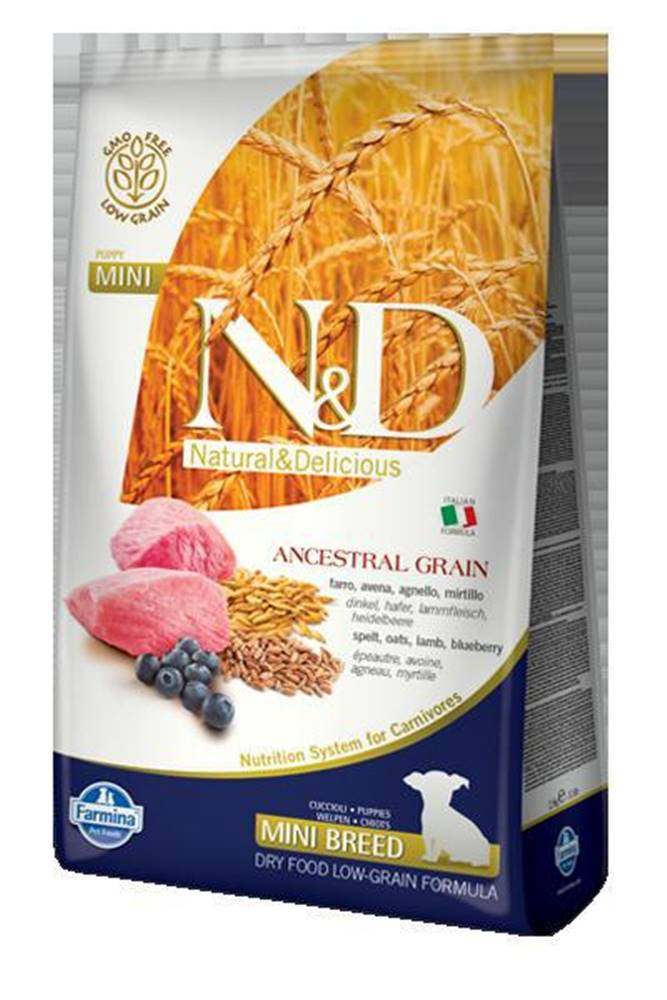 Natural&Delicious N&D dog LG PUPPY MINI LAMB/BLUEBERRY - 800g