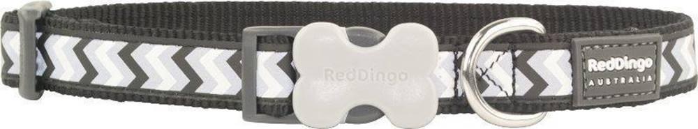 Red-dingo Obojek RD reflective ZIGGY/black - 1,2/20-32cm