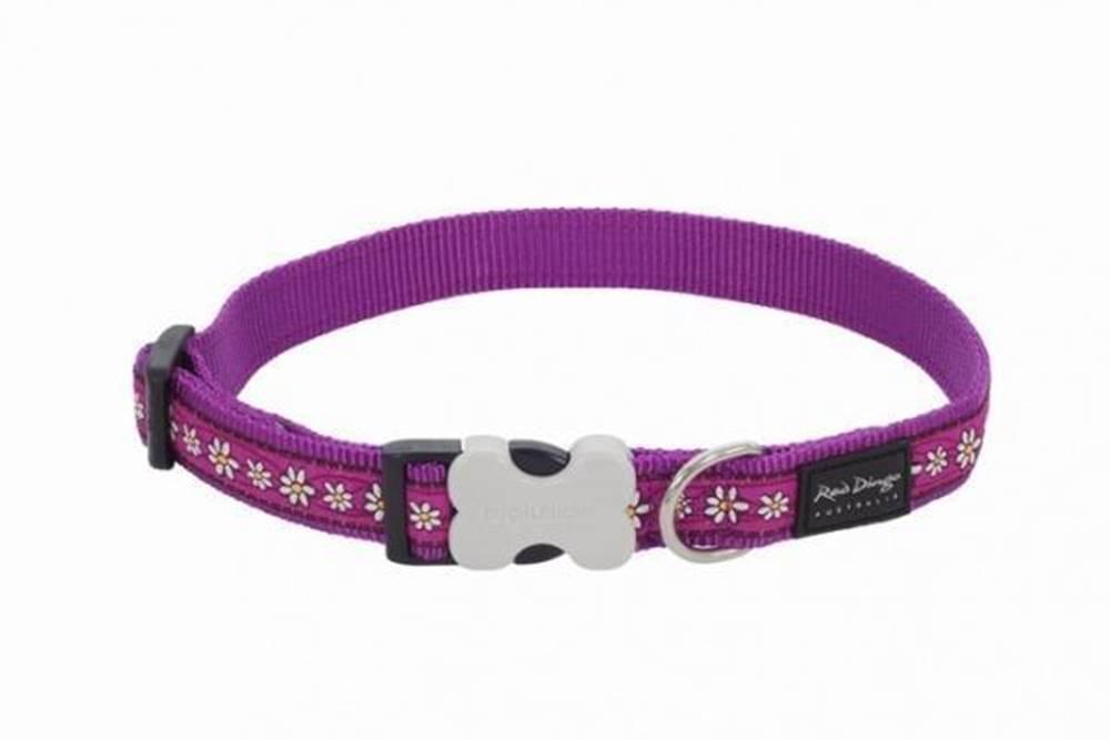 Red-dingo Obojok RD Daisy Chain Purple - 1,2/20-32cm