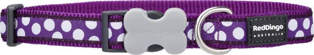Red-dingo Obojok RD WHITE spots on PURPLE - 1,2/20-32cm