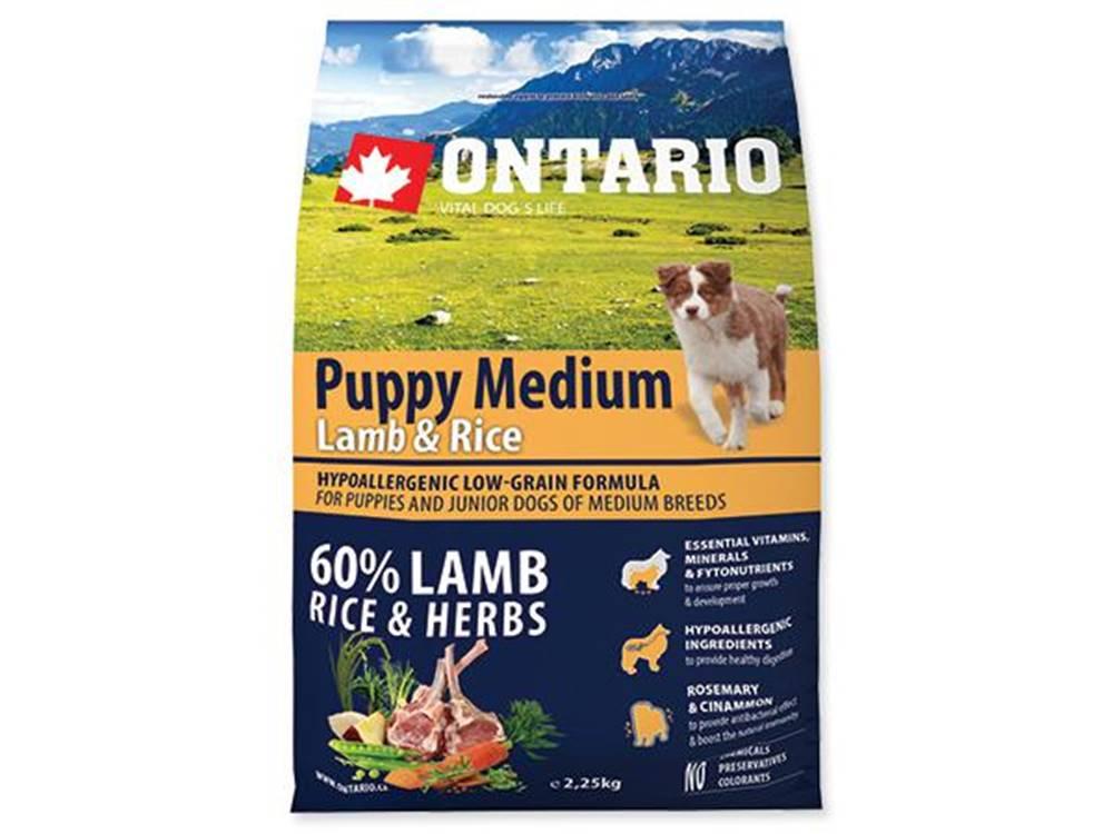 Ontario ONTARIO dog PUPPY MEDIUM lamb - 2,25kg