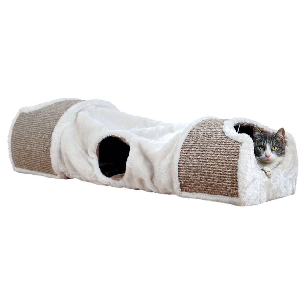 Trixie Plyšový tunel pre mačky béžový - 110x30x38cm