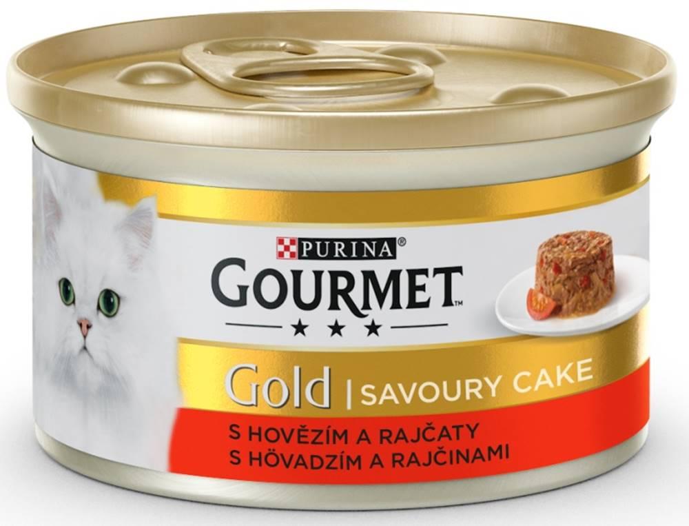 Gourme gold PURINA GG savoury cake 85g konzerva - HOVÄDZIE / paradajky