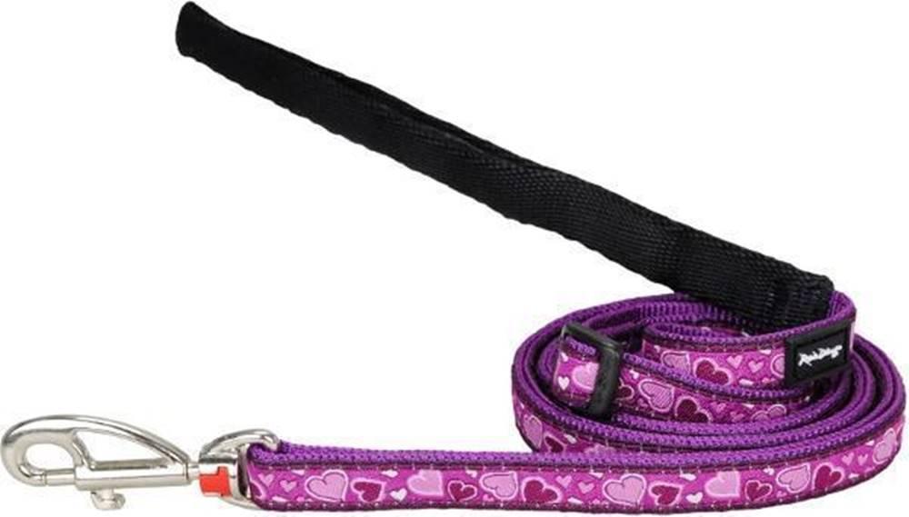 Red-dingo Vodítko RD Breezy Love Purple - 1,2cm/1,8m