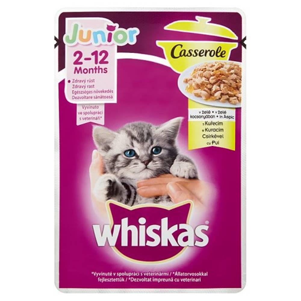 Whiskas WHISKAS kapsa CASSEROLE JUNIOR   kuracie - 85g