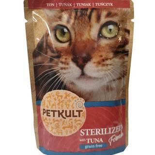 PETKULT cat kapsa STERILISED tuniak - 100g