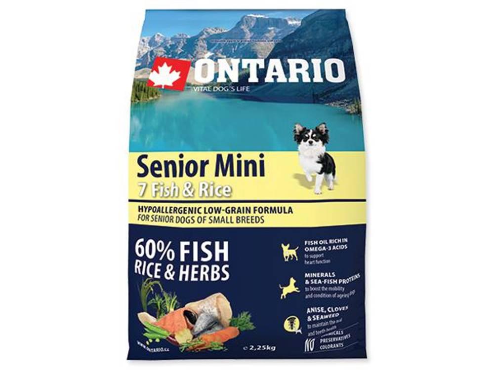 Ontario ONTARIO dog SENIOR MINI fish - 2,25kg