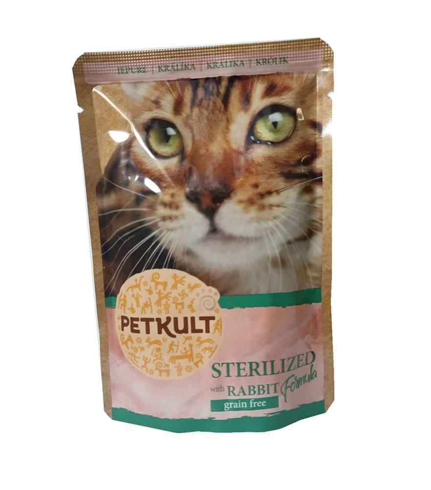 (bez zařazení) PETKULT cat kapsa STERILISED králik  - 100g