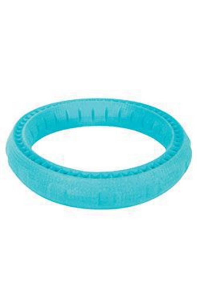 Zolux Hračka pes RING MOOS TPR POP 23cm modrá Zolux