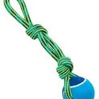 Hračka pes BUSTER Slučka s tenisákom modr / zelená 30cm