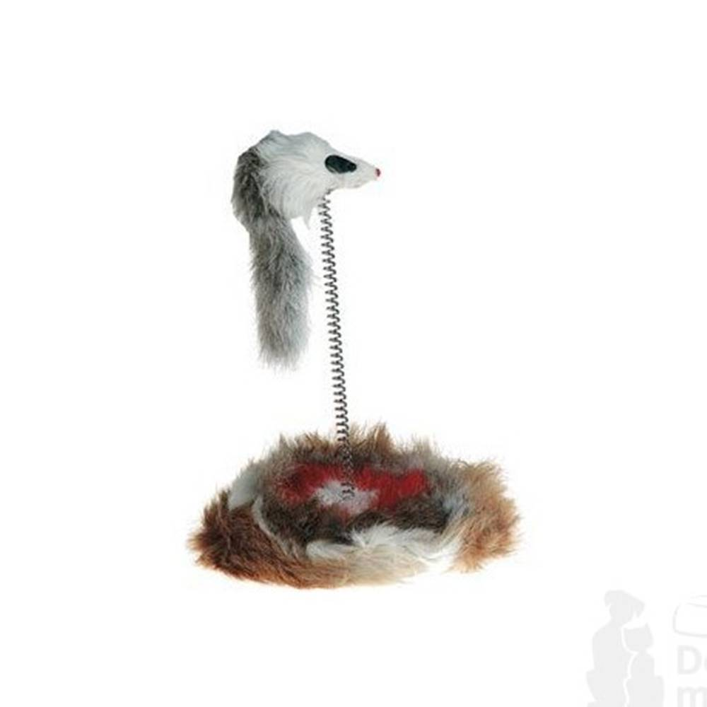 Karlie FLAMINGO Hračka kočka Myš na pružině 14cm KAR