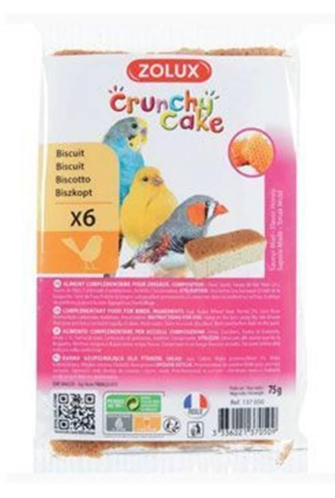 Zolux Sušienky vták Crunchy CAKE HONEY 6ks 75g Zolux