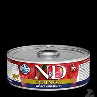 N&D GF CAT QUINOA Weight Management Lamb &Brocolli 80g