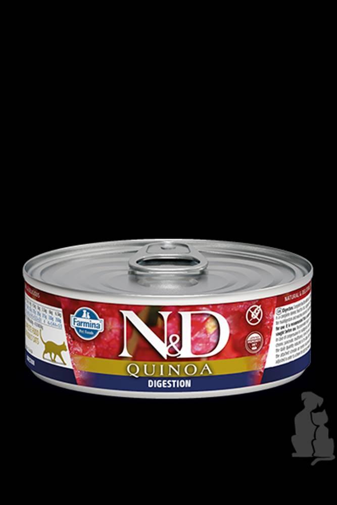 N&D (Farmina Pet Foods) N&D GF CAT QUINOA Digestion Lamb & Fennel 80g