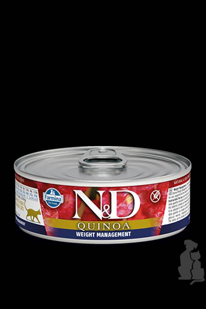 N&D (Farmina Pet Foods) N&D GF CAT QUINOA Weight Management Lamb &Brocolli 80g