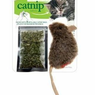 Hračka mačka GiGwiCatnip Myška sa 3 vre. vým. náplňou