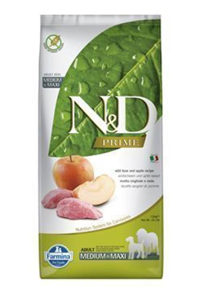 N&D N&D PRIME DOG Adult M/L Boar & Apple 2,5kg