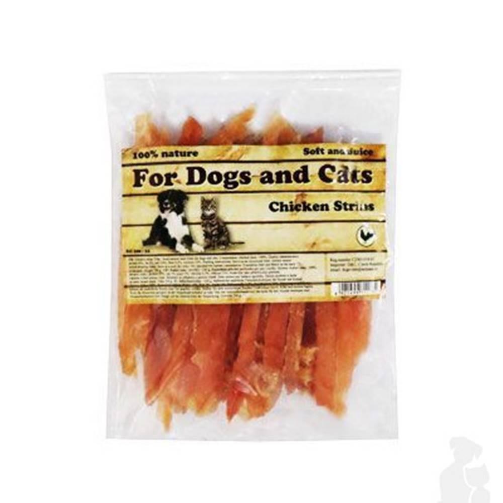 For Dogs and Cats Pochúťka Kuracie mäso prúžky 230g