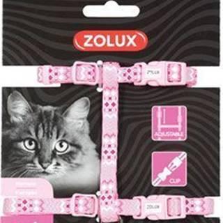 Postroj mačka ETHNIC nylon ružový Zolux