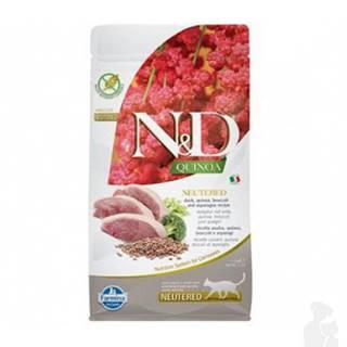 N&D Quinoa CAT Neutered Duck &Broccoli&Asparagus 1,5kg