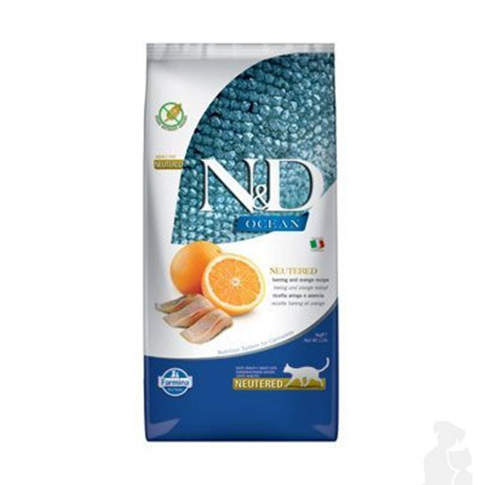 N&D (Farmina Pet Foods) N&D OCEAN CAT NEUTERED Adult Herring & Orange 5kg