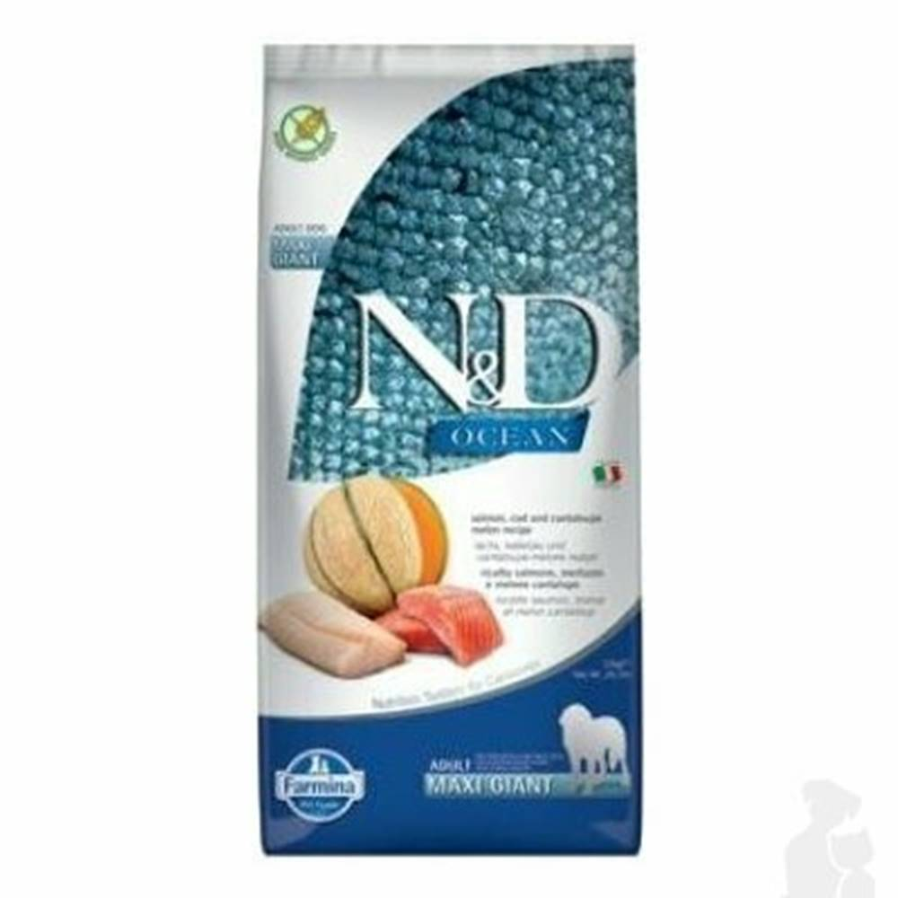 N&D (Farmina Pet Foods) N&D OCEAN DOG Adult Giant Salmon & Cod & Melon 12kg