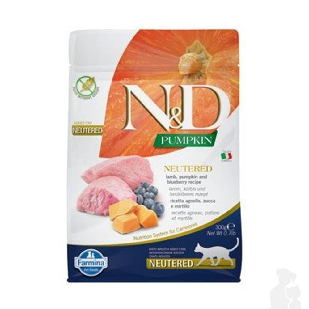 N&D (Farmina Pet Foods) N&D Pumpkin CAT Neutered Lamb & Blueberry 300g