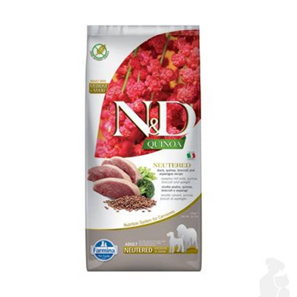 N&D (Farmina Pet Foods) N&D Quinoa DOG Neutered M/L Duck&Broccoli&Asp. 12kg
