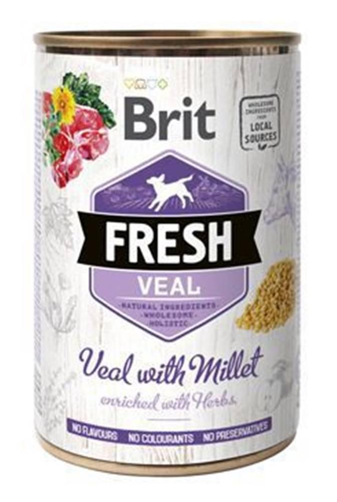 Brit Brit Dog Fresh konz Veal with Millet 400g