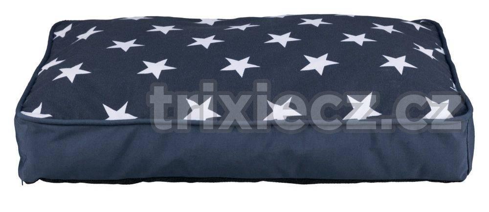 Trixie Vankúš (obdélkník) STARS modrý s hviezdami - 90x65cm