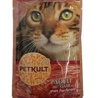 PETKULT  cat kapsa ZVĚŘINA (game) - 100g