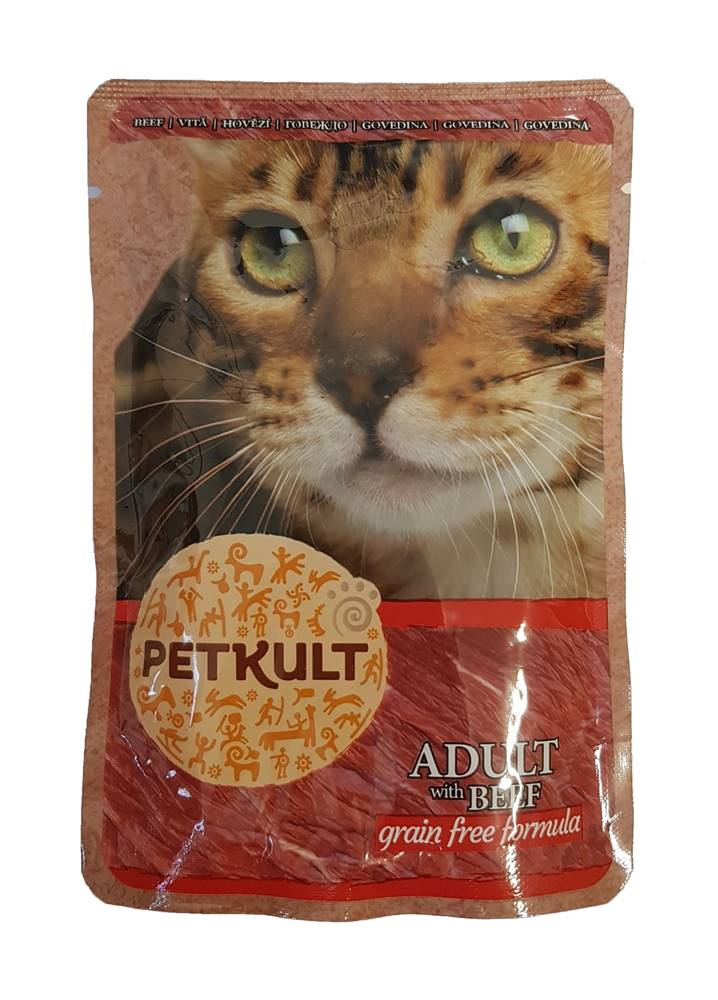 Petkult PETKULT  cat kapsa HOVĚZÍ (beef) - 100g