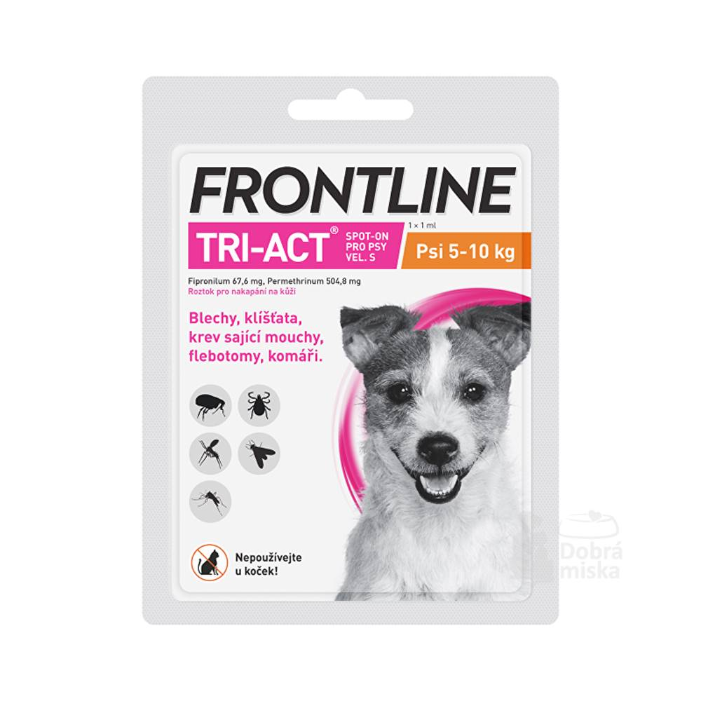 Frontline Frontline Tri-act Spot-on S (5-10 kg) 1 pipeta