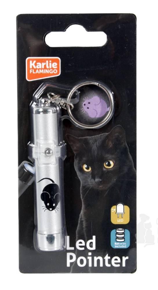 Karlie Hračka kočka LED světlo laser motiv MYŠ 8cm