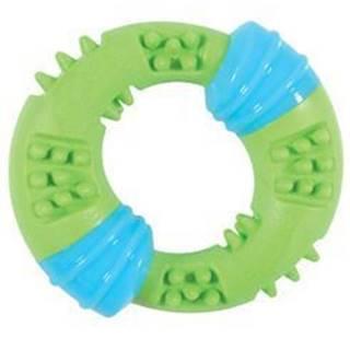 Hračka pes TPR SUNSET krúžok 15cm zelená Zolux