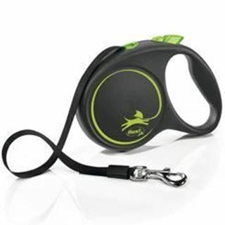 Vodítko FLEXI Black Design L opasok 5m / 50kg zelená NEW