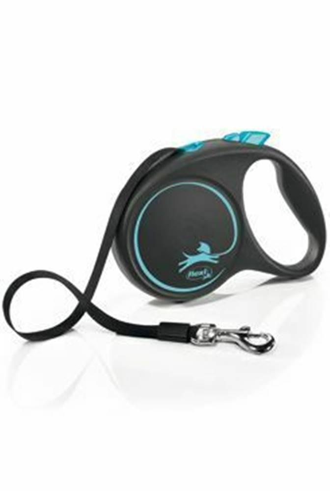 Flexi Vodítko FLEXI Black Design L opasok 5m / 50kg modrá NEW