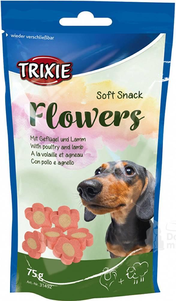 Trixie Esquisita Flowers jahňacie / kuracie kytičky pre psov 75g TR