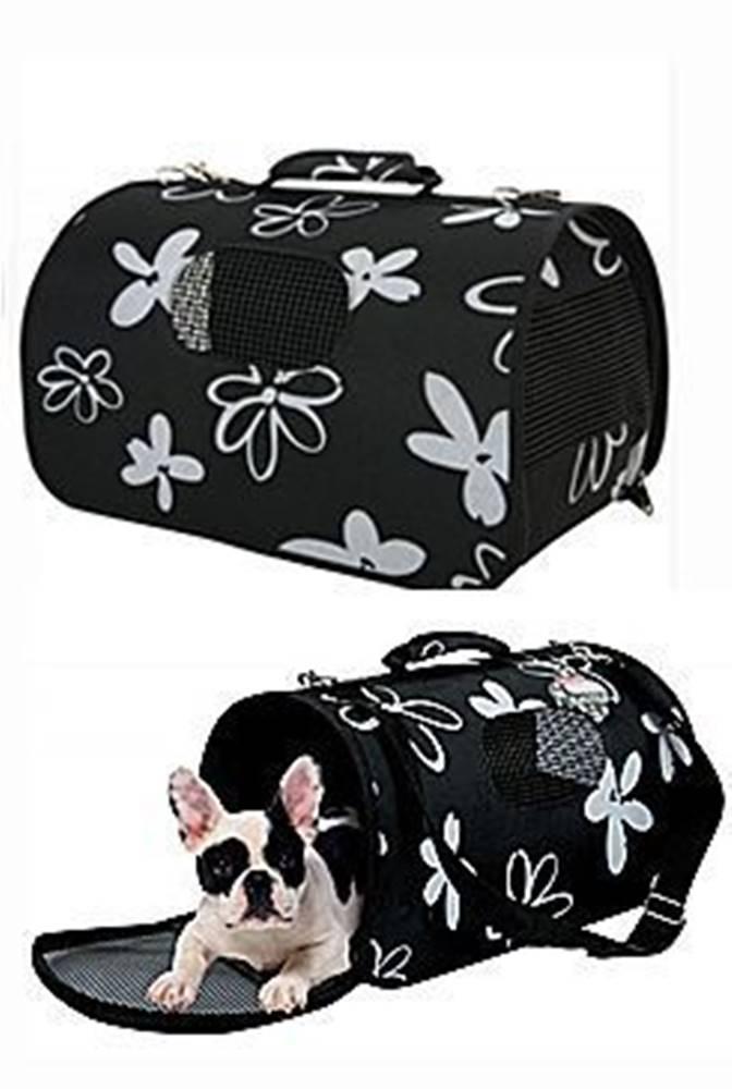 Zolux Taška cestovní Flower M černá 25x44x29cm Zolux