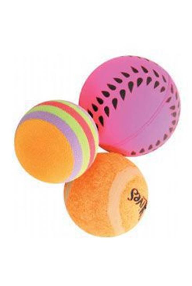 Zolux Hračka kočka sada míčků 3ks 4cm oranžová Zolux