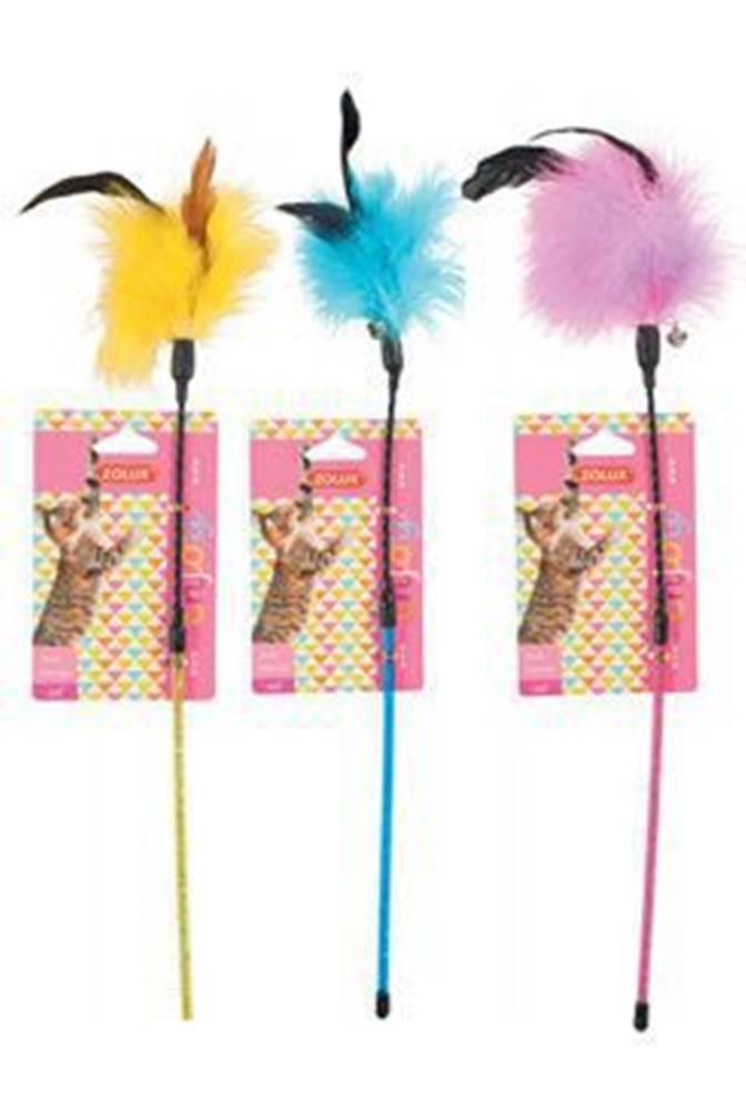 Zolux Hračka kočka udice Feather Duster mix barev Zolux