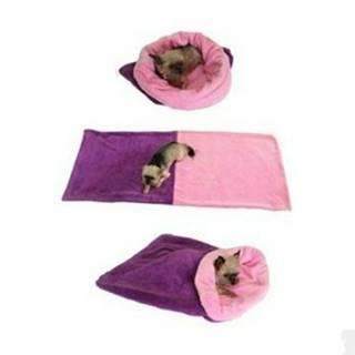 Spací vak 3v1 fialová / sv.ružová XL pes č.72