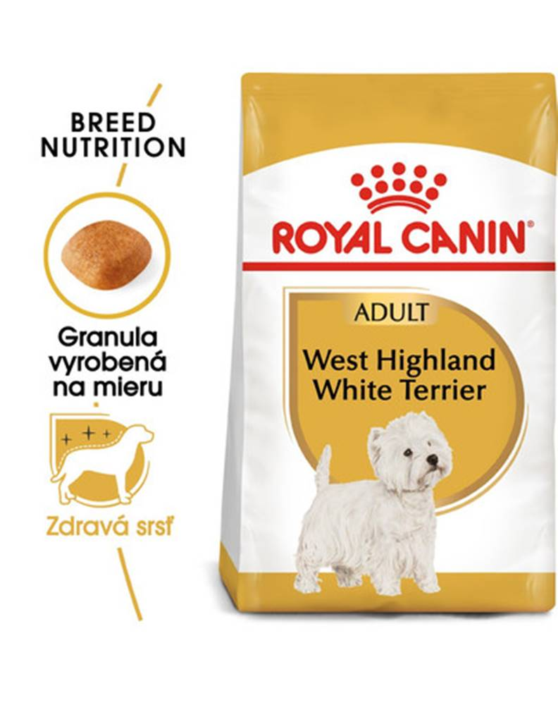 fera ROYAL CANIN Westie Adult 3kg granule pre dospelého westhinghlandského bieleho teriéra