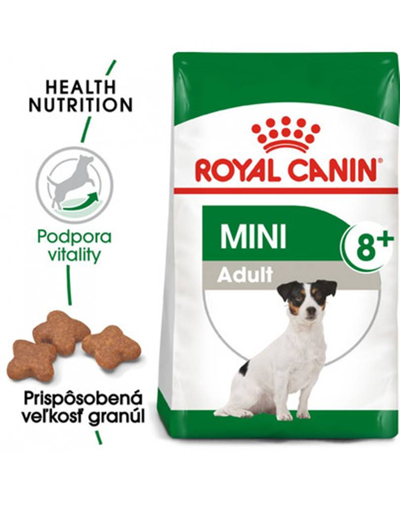 fera ROYAL CANIN Mini Adult 8+ 2kg granuly pre dospelé starnúce psy