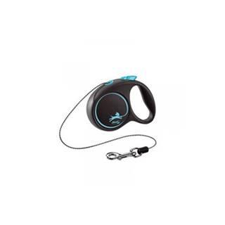 FLEXI Vodítko Black Design M lanko 5 m modré