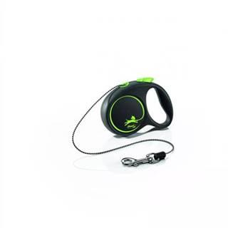 FLEXI Vodítko Black Design XS lanko 3 m zelené