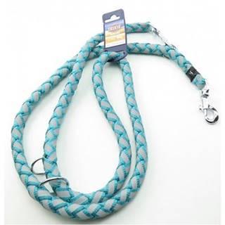 TRIXIE Cavo Reflect Reflexné nastaviteľné vodítko pre psa, Sea Blue S - M: 2,00 m / o 18 mm