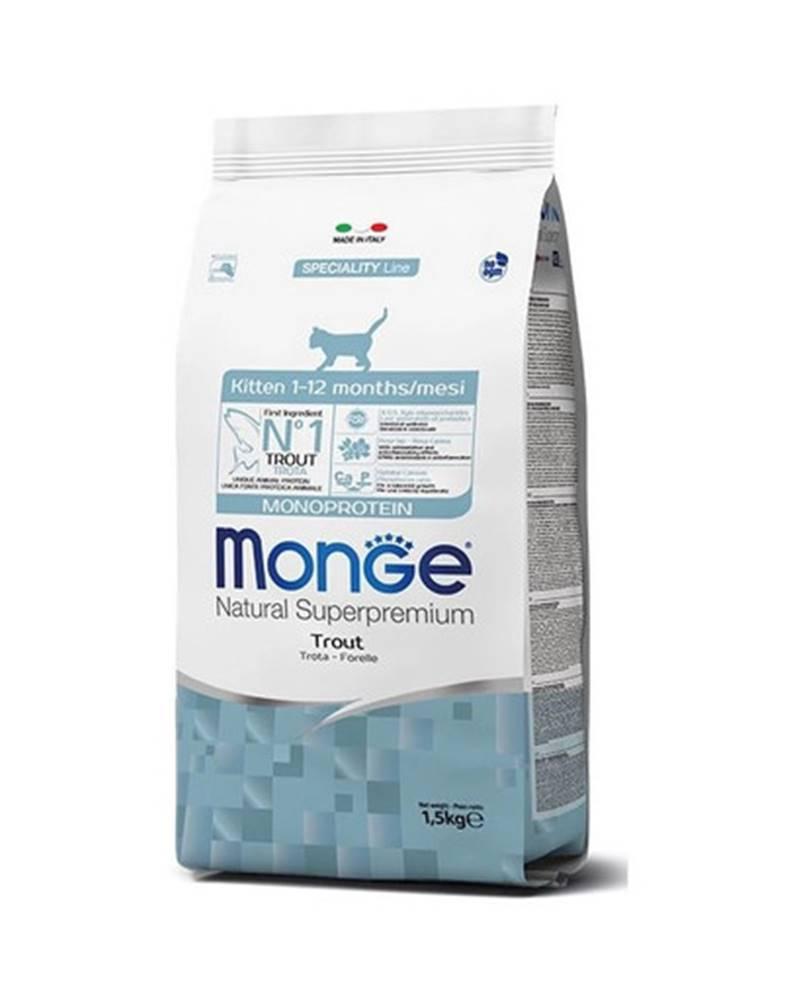 fera MONGE Monoprotein Kitten Pstruh 400g granule pre mačiatka