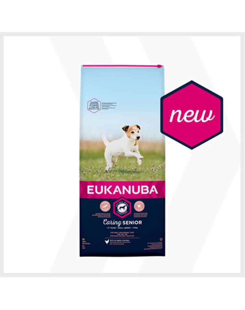 fera EUKANUBA Caring Senior Small Breed 2 x 15kg kuracie granule pre starších psov malých rás