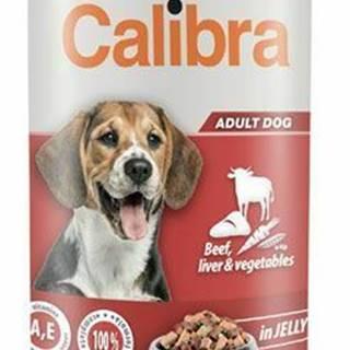 Calibra Dog konz.hovězí + pečeň + zel. v želé 1240g NEW